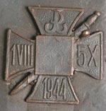 Odznaka pamiątkowa Zgrupowania Chrobry II – półfabrykat