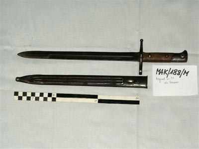 Bagnet M1891 do karabinu Mannlicher-Carcano M1891