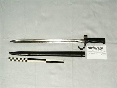 Bagnet M1892 do karabinka Berthier M1892