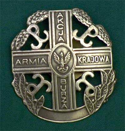 """Odznaka pamiątkowa Akcja """"Burza"""""""