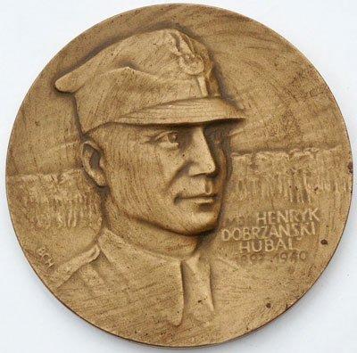 Medal pamiątkowy – mjr Henryk Dobrzański