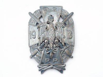Odznaki pamiątkowe 22 Pułku Piechoty z Siedlec
