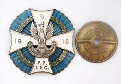 Odznaka pamiątkowa 9 Pułku Piechoty Legionów z Zamościa