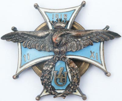 Odznaka pamiątkowa 4 Pułku Ułanów Zaniemeńskich z Wilna