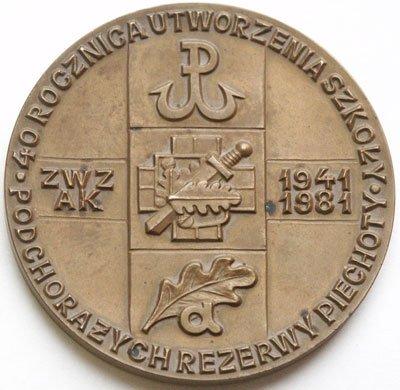 """Medal pamiątkowy – 40 rocznica utworzenia Szkoły """"Agrykola"""""""