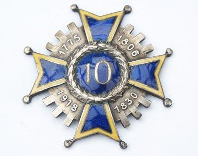 Odznaka pamiątkowa 10 Pułku Piechoty z Łowicza