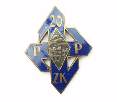 Odznaka pamiątkowa 20 Pułku Piechoty Ziemi Krakowskiej z Krakowa