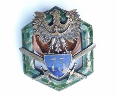 Odznaki pamiątkowe 75 Pułku Piechoty z Chorzowa