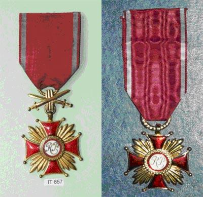 Krzyż Zasługi, Krzyż Zasługi z Mieczami