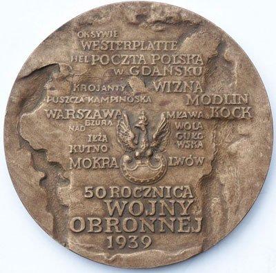 Medal pamiątkowy – Krajowa Wystawa Filatelistyczna Gdańsk'89