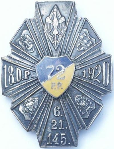 Odznaka pamiątkowa 72 Pułku Piechoty z Radomia