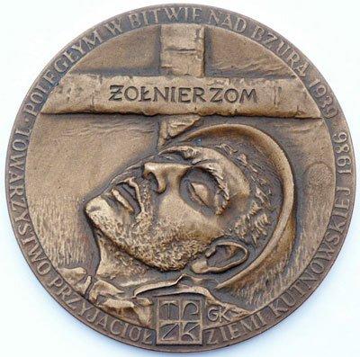 """Medal pamiątkowy – """"Poległym w Bitwie nad Bzurą"""""""