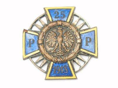 Odznaka pamiątkowa 25 Pułku Piechoty z Piotrkowa Trybunalskiego