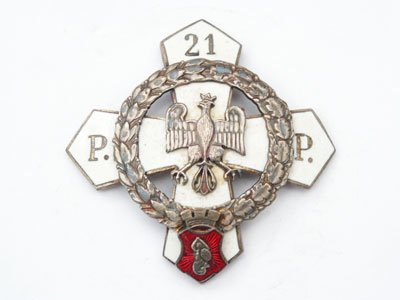 Odznaka pamiątkowa 21 Pułku Piechoty z Warszawy