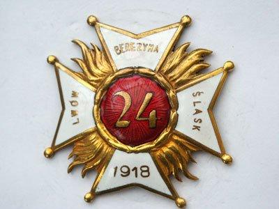 Odznaka pamiątkowa 24 Pułku Piechoty z Łucka
