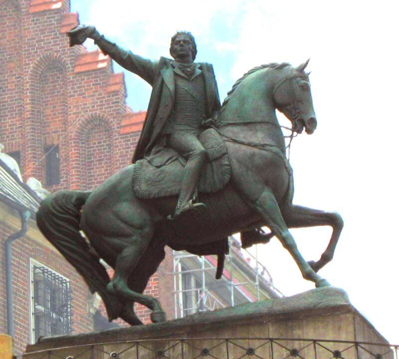 Zniszczenie pomnika T. Kościuszki