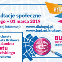 Konsultacje społeczne regulaminu Budżetu Obywatelskiego