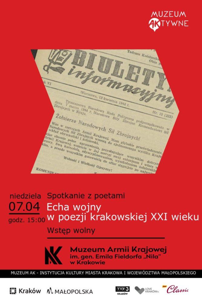 Spotkanie Echa wojny w poezji Krakowskiej XXI wieku