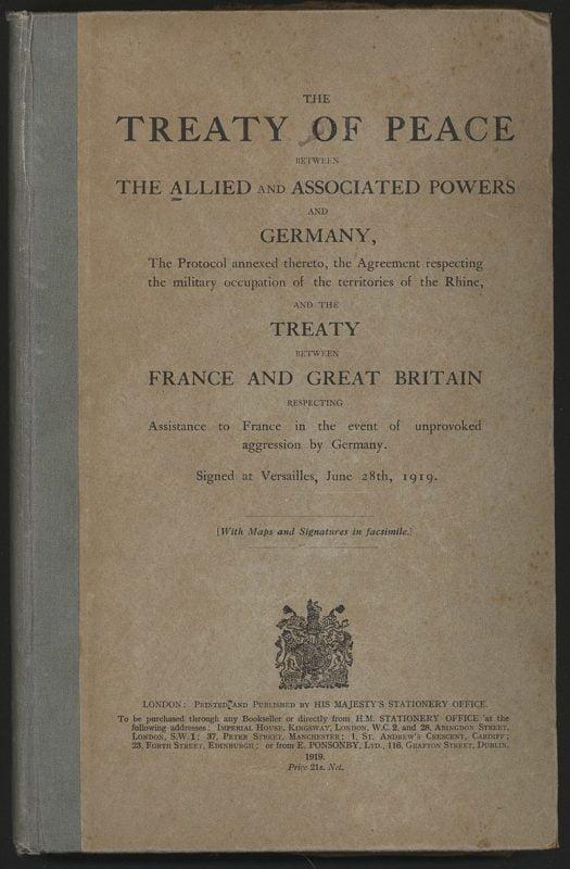 Podpisano w Wersalu traktat pokojowy z Niemcami