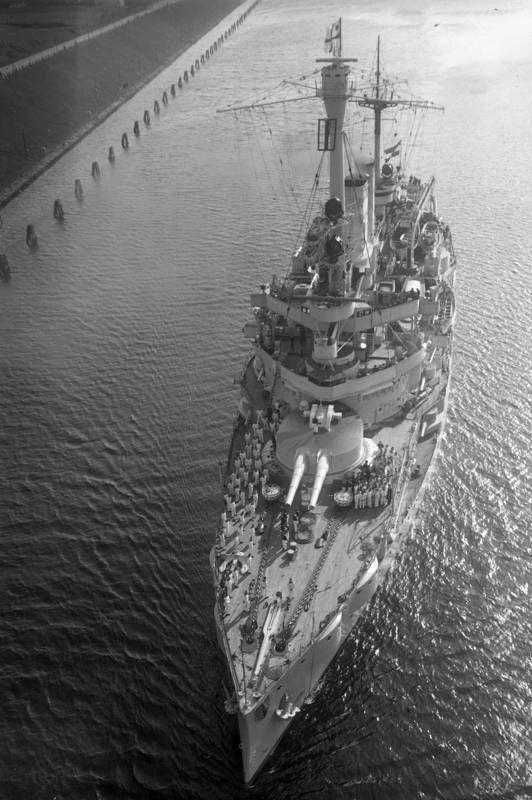SMS Schleswig-Holstein w Gdańsku