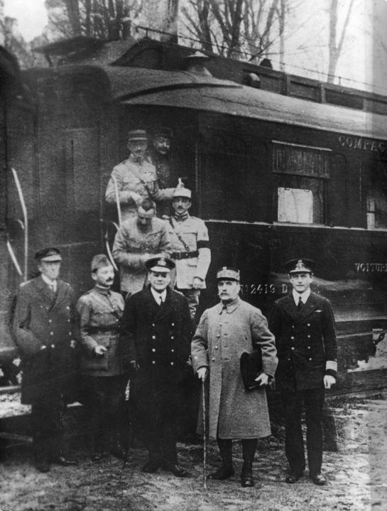 Zawieszenie broni w Compiegne. Koniec I wojny światowej.
