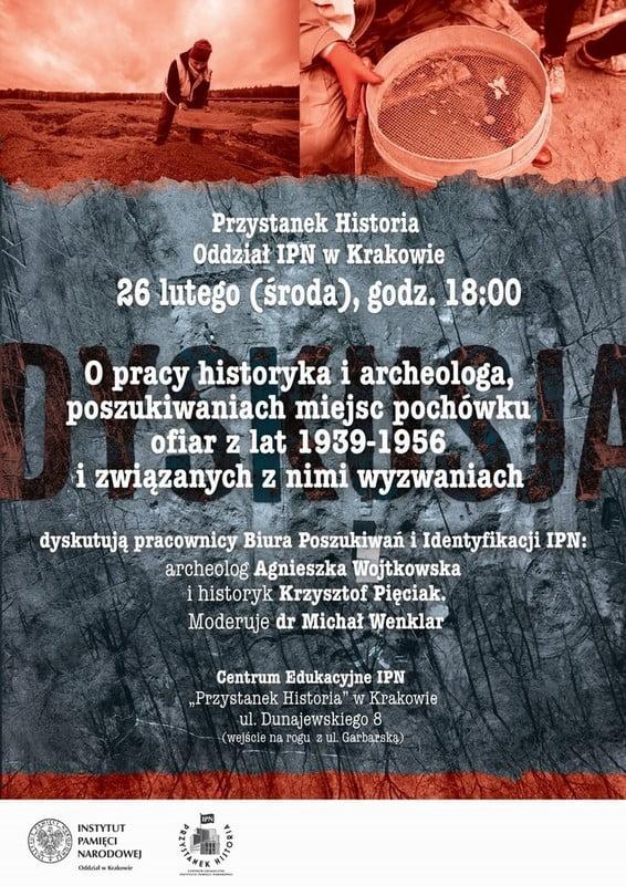 """26.02 Spotkanie dyskusyjne """"Jak szukać, żeby znaleźć"""" w IPN Kraków."""