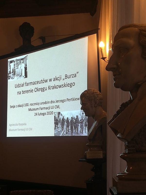 Uroczysta Sesja z okazji 100 rocznicy urodzin płk. dra Jerzego Pertkiewicza ps. Drzazga 24.02.2020