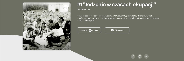 Wysłuchaj podcastu z serii #zostańwdomu z #MuzeumAK