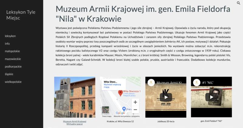 Muzeum AK w Leksykonie Tyle Miejsc