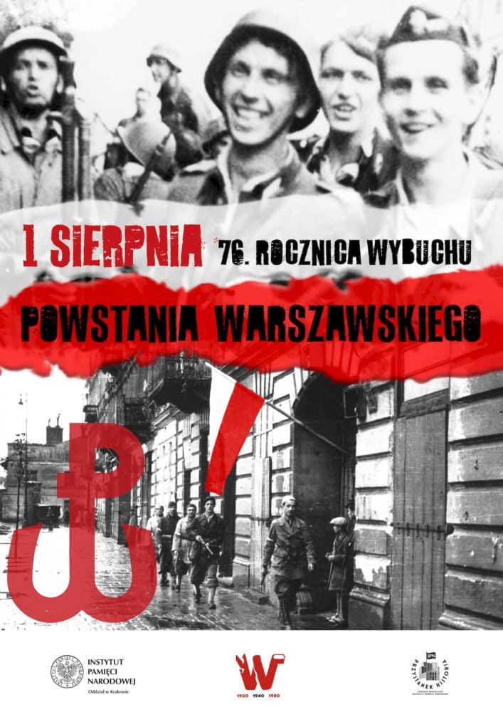 Uroczystości upamiętniające 76. rocznicę wybuchu powstania warszawskiego