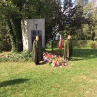 """Uroczystości upamiętniające 76. rocznicę bitwy partyzanckiej I Batalionu """"Barbara"""" 16 PP AK oraz pacyfikacji Jamnej"""