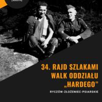 """34. Rajd Pieszy Szlakami Walk Oddziału """"Hardego"""""""