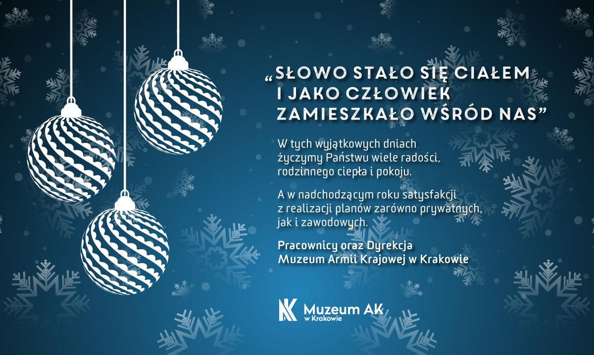 Życzenia świąteczne od Muzeum AK