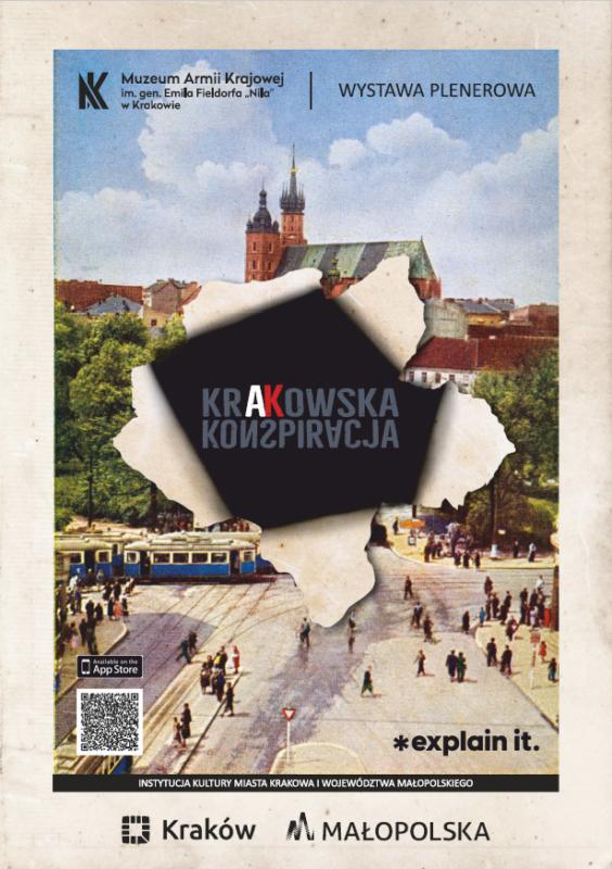"""Wystawa plenerowa """"Krakowska Konspiracja"""""""
